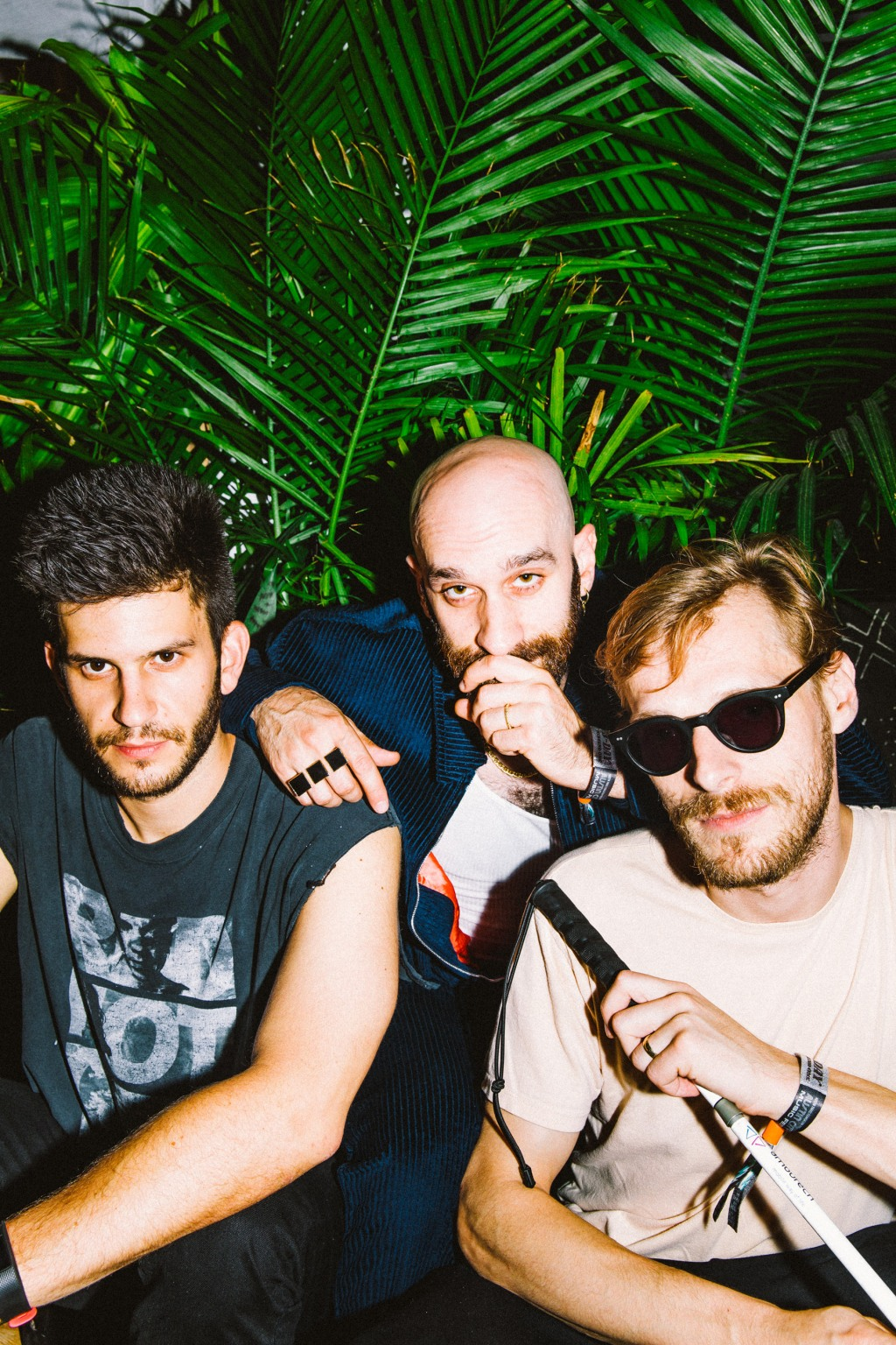 X Ambassadors backstage at ACL 2018