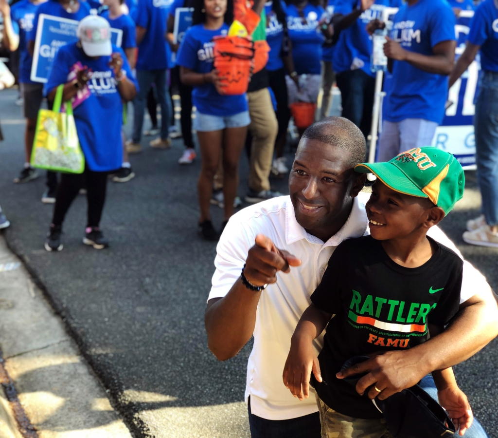 Andrew Gillum during Florida A&M's Homecoming weekend in September.