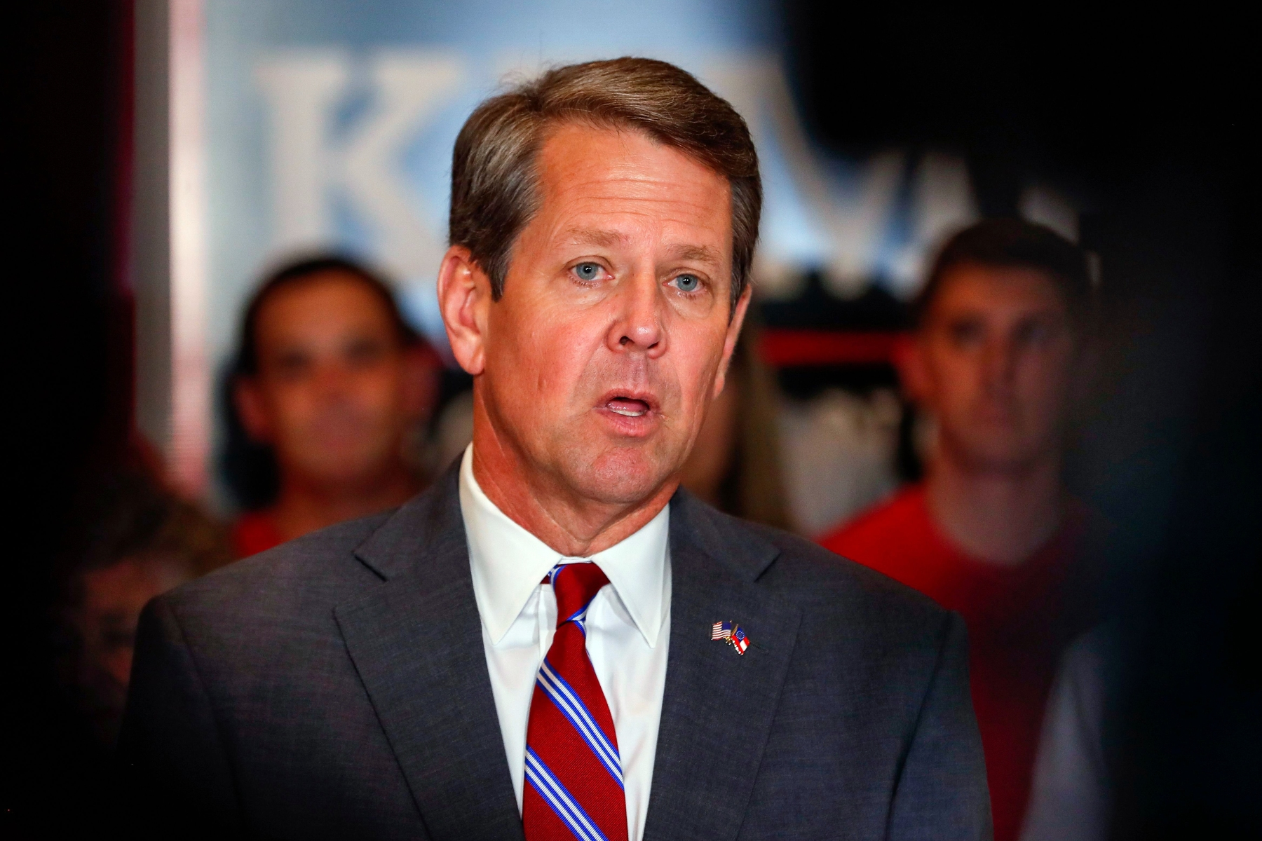 Brian KempGeorgia Republican gubernatorial runoff candidate Brian Kemp, Atlanta, USA - 17 Jul 2018Georgia Republican gubernatorial runoff candidate Brian Kemp speaks at a campaign event in Atlanta, Georgia, USA, 17 July 2018. Kemp, the Georgia Secretary of State, faces Georgia Lieutenant Governor Casey Cagle in a 24 July primary runoff election.