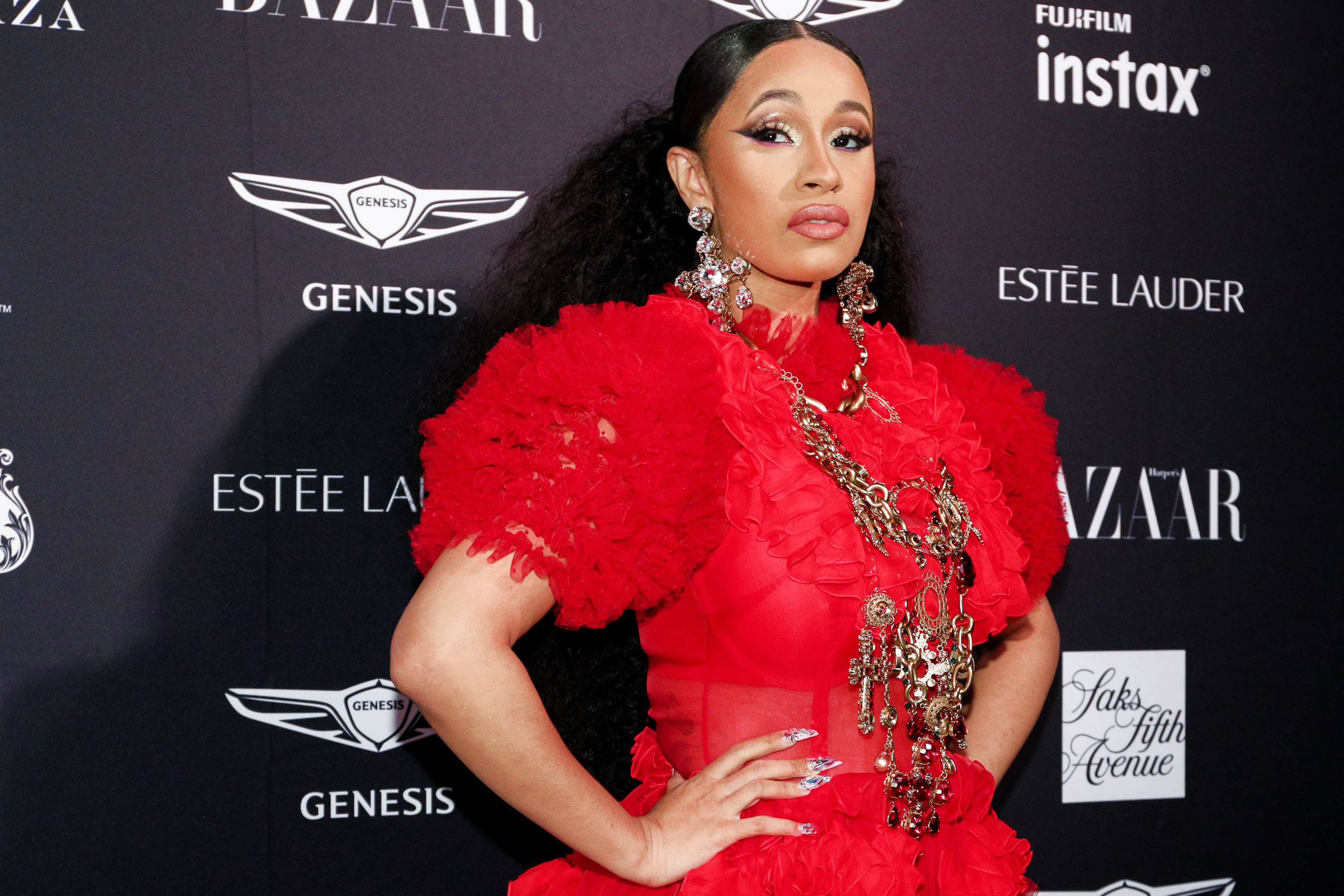 db4e60abac56 Cardi B at the Harper s Bazaar ICONS party