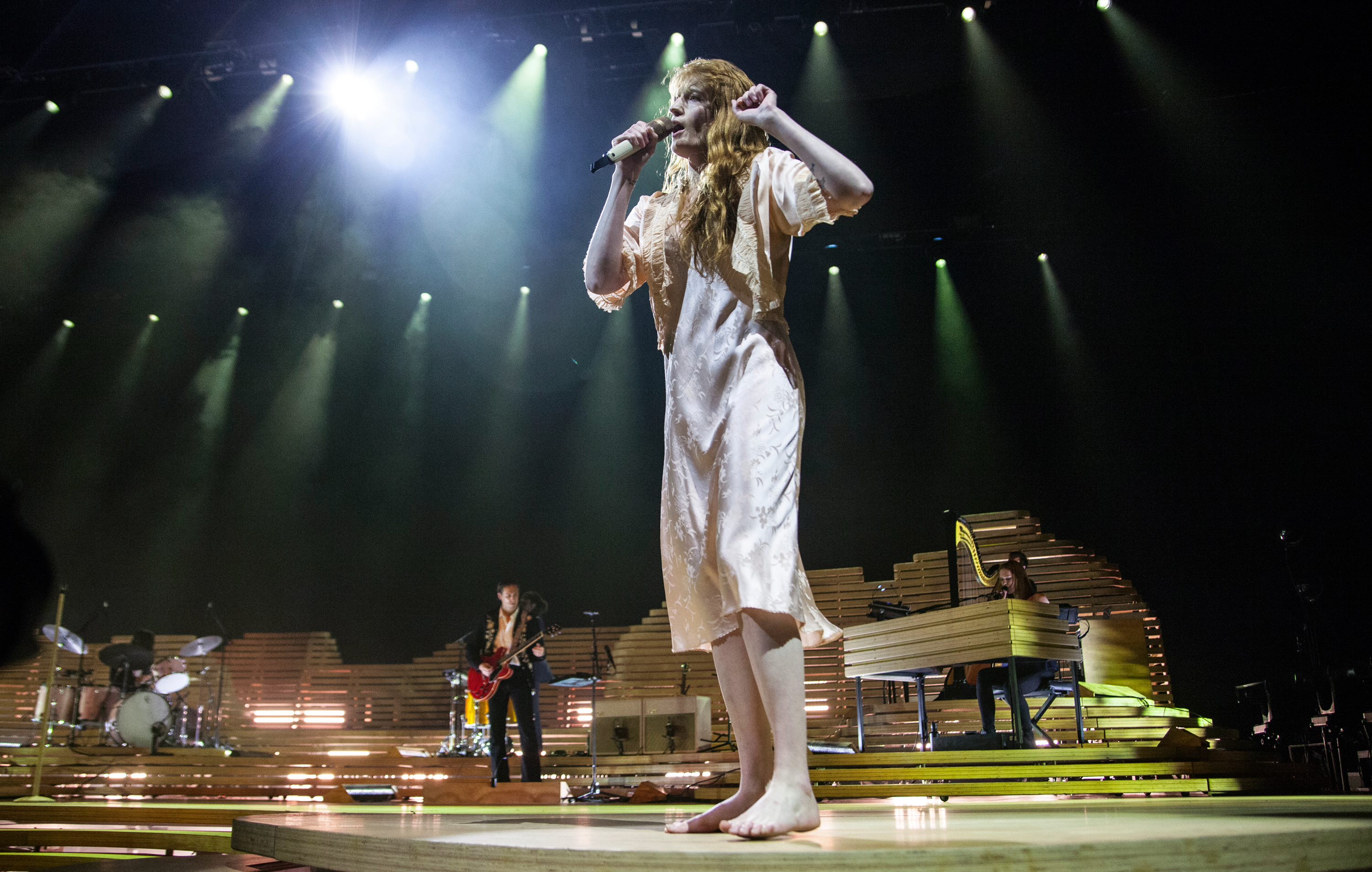 CHARLOTTE, NC - OCTOBER 03: Singer Florence Welch of Florence and the Machine performs at Spectrum Center on October 3, 2018 in Charlotte, North Carolina. (Photo by Jeff Hahne/Getty Images)