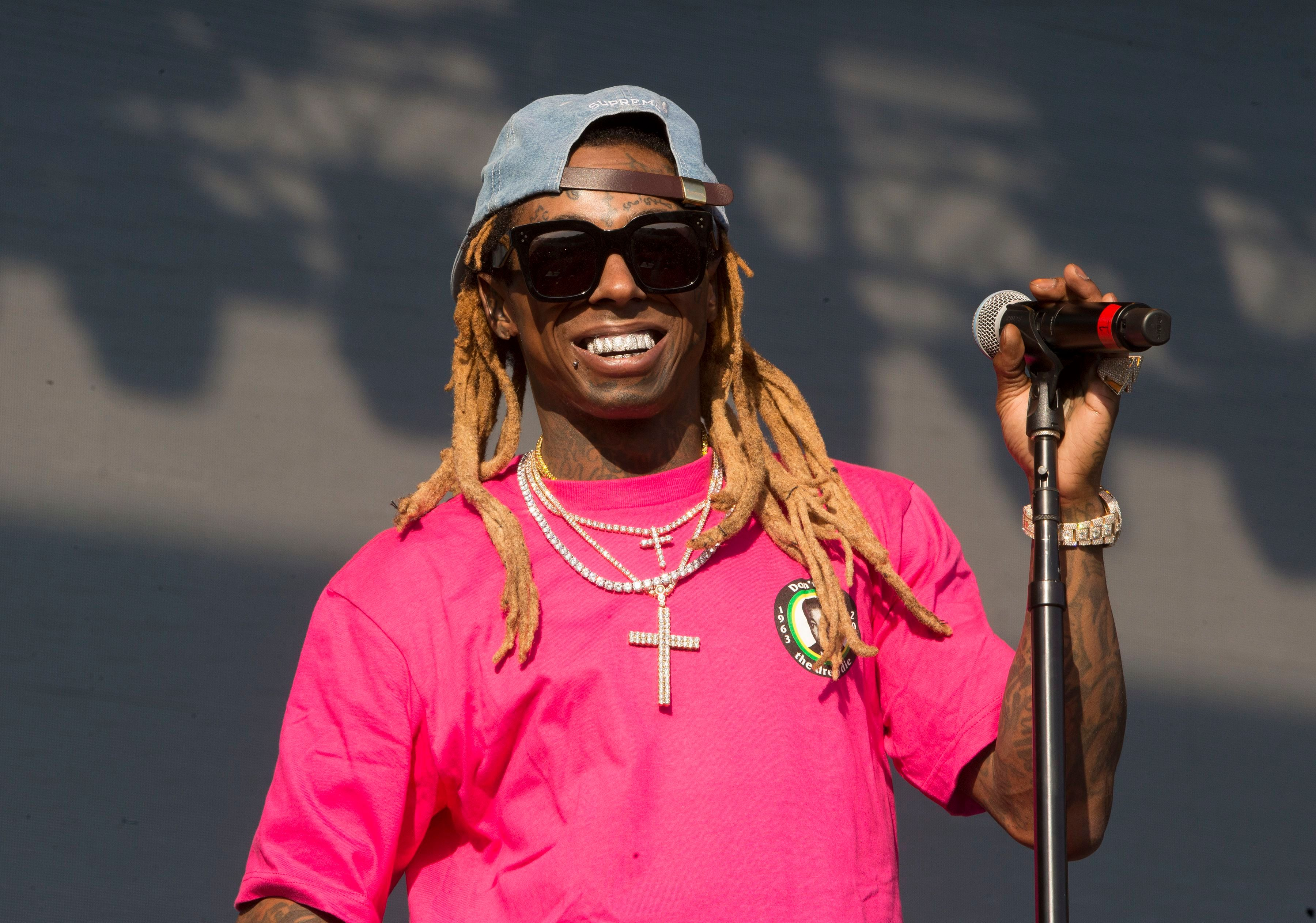 9a2ddcc8a0a6b Lil Wayne performs on Day 3 of the 2018 Firefly Music Festival at The  Woodlands