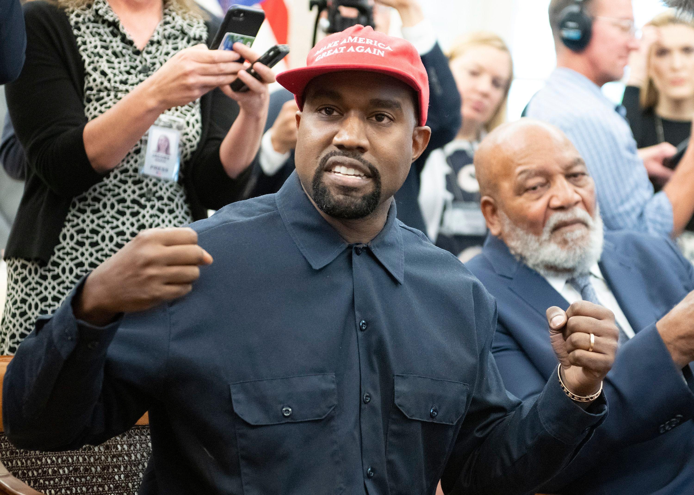 83365e0de72e6 Kanye West Designs Shirts Encouraging  Blexit  From Democratic Party ...