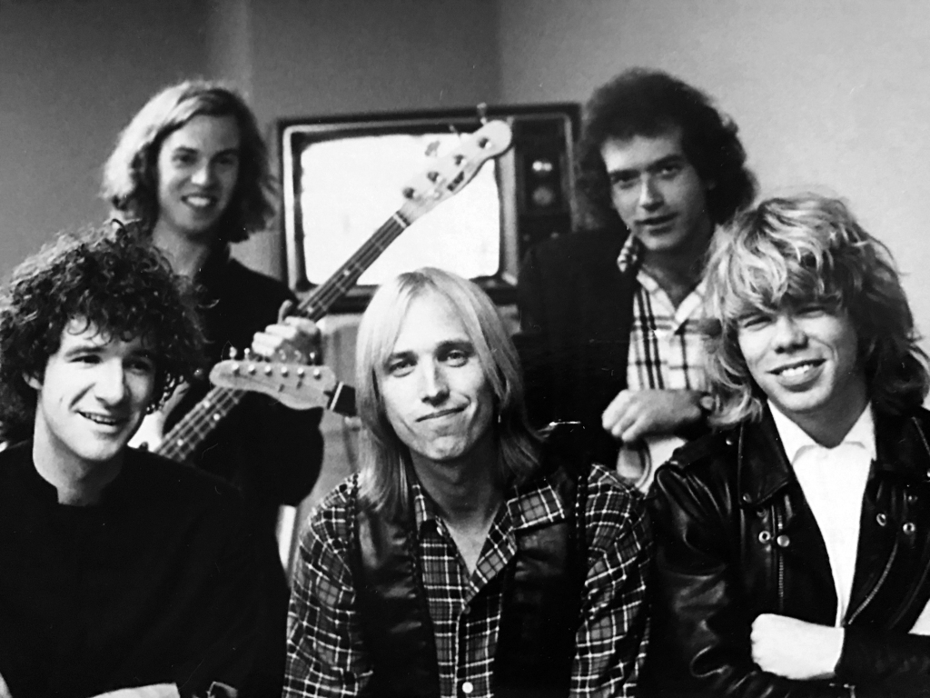 Tom Petty and some of the Heartbreakers with author Warren Zanes.