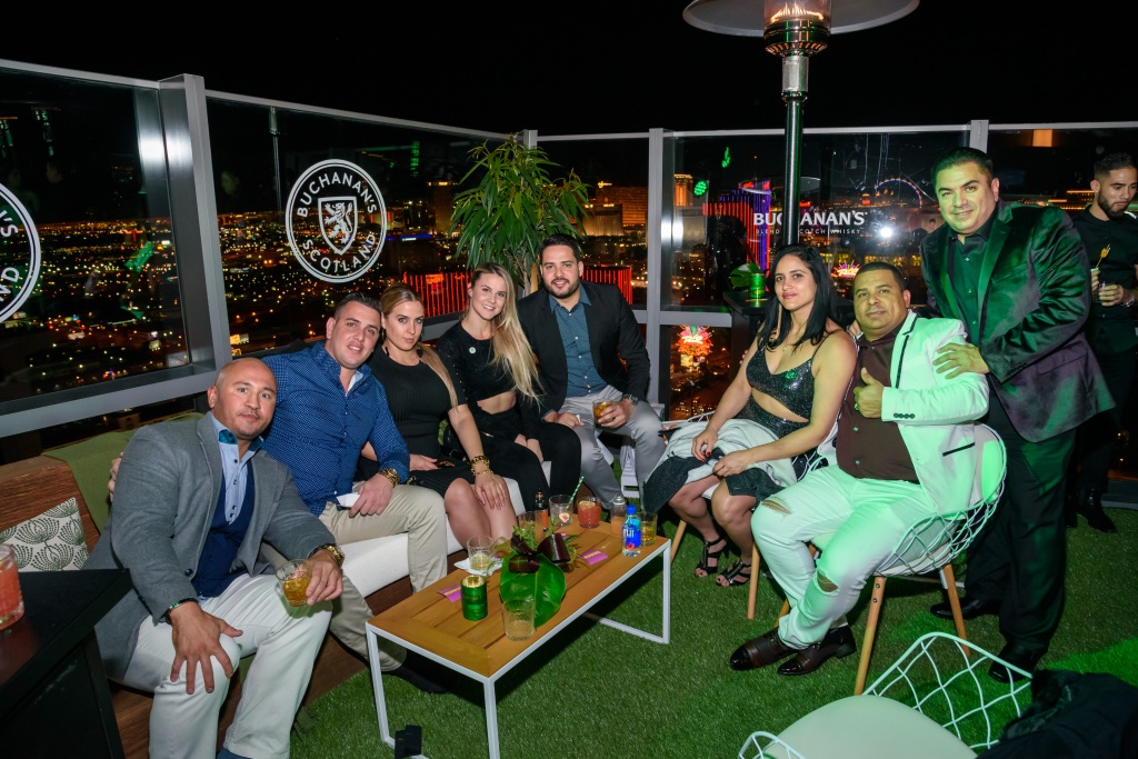 Guests enjoyed a gorgeous, sprawling view of the Las Vegas Strip.