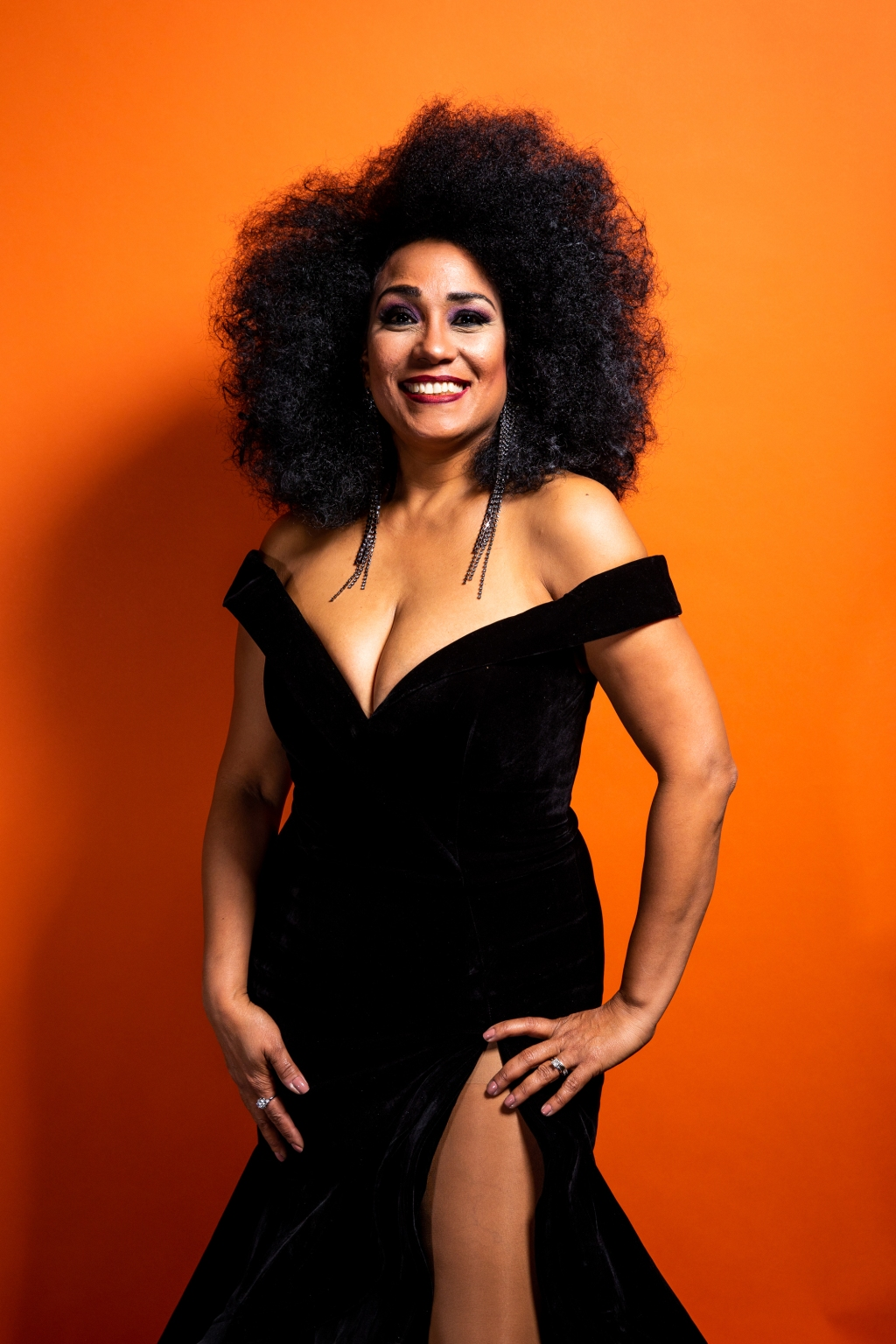 Aymee Nuviola poses for a portrait backstage at the 19th annual Latin Grammy Awards at the MGM Garden Arena on November 15, 2018 in Las Vegas, NV.