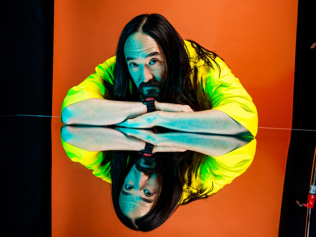 Steve Aoki poses for a portrait backstage at the 19th annual Latin Grammy Awards at the MGM Garden Arena on November 15, 2018 in Las Vegas, NV.