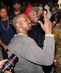 Kanye West, Steve Stoute, Tony WilliamsNas 'Nasir' album listening party, New York, USA - 14 Jun 2018