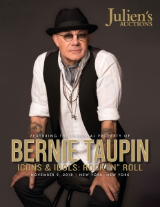 "Bernie Taupin's Icons & Idols: Rock ""n"" Roll auction booklet."