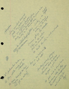 Bernie Taupin's handwritten lyrics, up for auction.