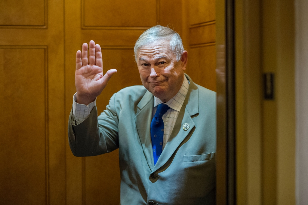 UNITED STATES - JUNE 26: Rep. Dana Rohrabacher, R-Calif., is seen after a meeting of the House Republican Conference in the Capitol on June 26, 2018. (Photo By Tom Williams/CQ Roll Call)