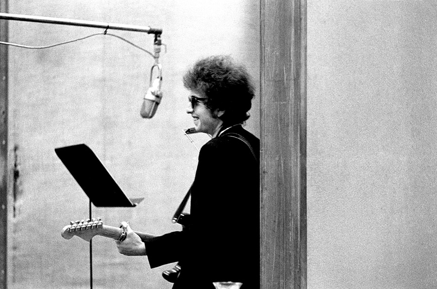 "The first time Schatzberg met Dylan, he was in the studio recording Highway 61 Revisited. Dylan's future wife Sara told him to just show up and start snapping away. ""He greeted me like an old friend and immediately wanted me to listen to what they just recorded, he says. ""I did and was a little inhibited, but he was very friendly from the very beginning. I wish I could rememberer what song they were working on that day. I think it was a song about a guy, definitely an 'up' tune."""