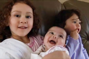 "Cynthia Shank's children, Annalis, Autumn and Ava, ""The Sentence"""