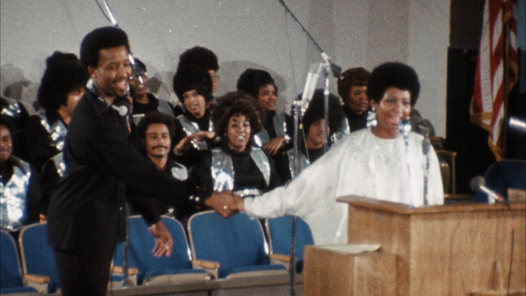 "A scene from the Aretha Franklin documentary, ""Amazing Grace"""
