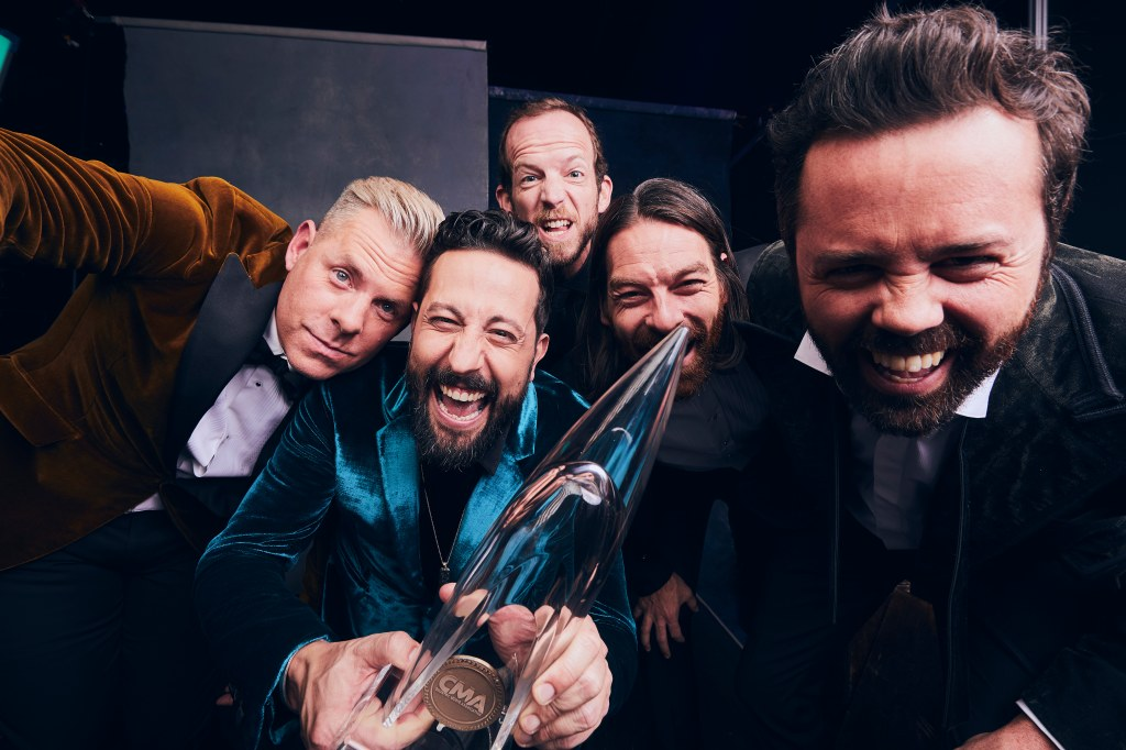 "Old Dominion performed the song ""Hotel Key"" and celebrated their first CMA Awards win for Vocal Group of the Year. (Credit: @greyland)"