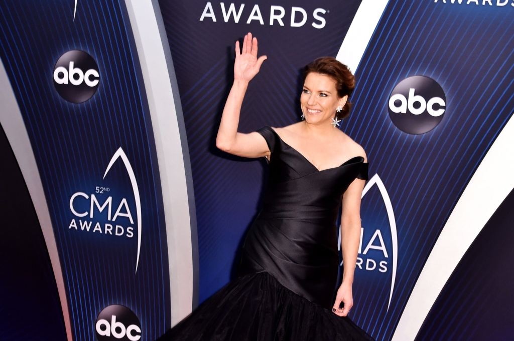 Four-time Female Vocalist of the Year winner Martina McBride arrives on the 2018 CMA Awards red carpet.