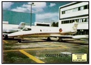 Evidence photo of a plane during El Chapo trial, Nov. 2018.