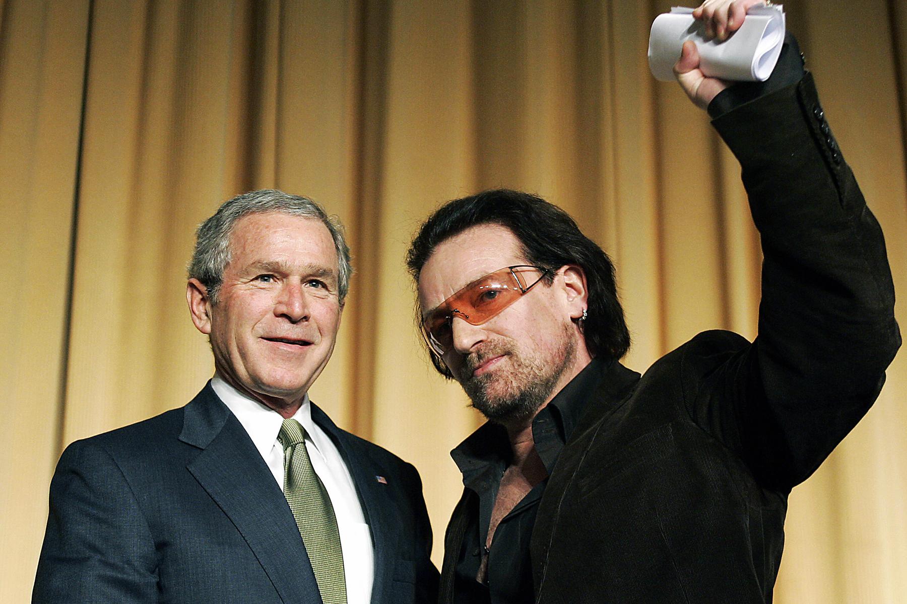 Bono I Ve Grown Very Fond Of George W Bush Rolling Stone
