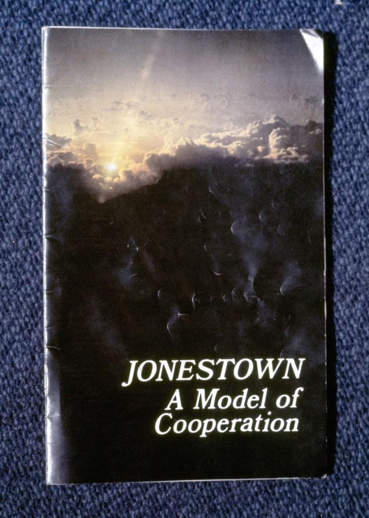 Color copies of Jonestown Promotional Book in 1978Jonestown Promotional Book Copies, New York, USA