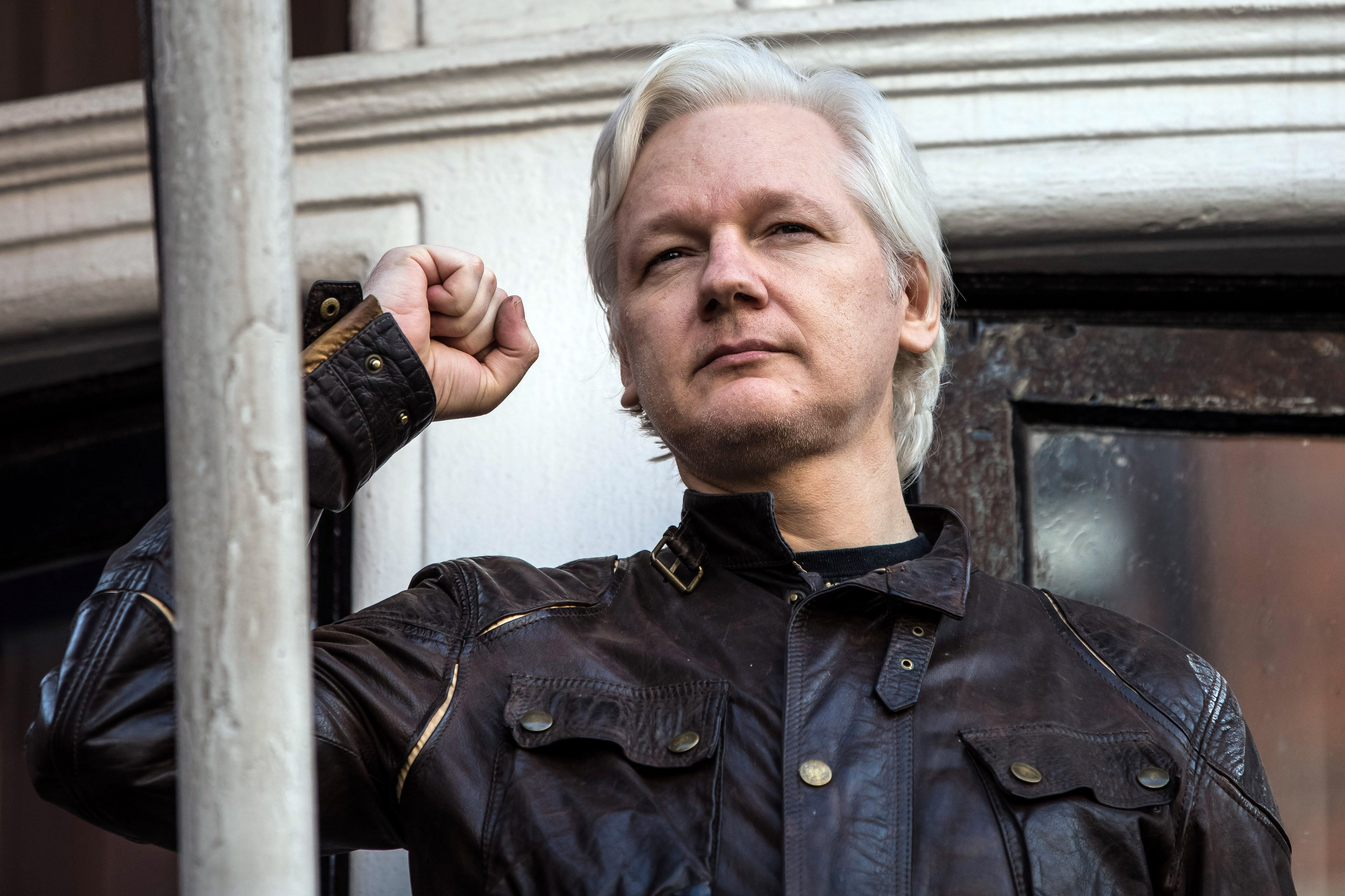 Wiki Leaks founder Julian Assange speaks from the Ecuador Embassy after Sweden's director of public prosecutions Marianne Ny drops rape investigation.Julian Assange rape investigation dropped by Swedish authorities, London, UK - 19 May 2017