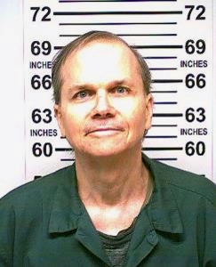 This photo, provided by the New York State Department of Corrections, shows Mark David Chapman, the man who killed John Lennon. Chapman, 63, who is serving 20-years-to-life in the Wende Correctional Facility in western New York, is scheduled to go before New York's parole board the week of Aug. 20, 2018, in what will be his 10th attempt to win release. The decision by the board of parole is supposed to be within two weeks of the hearingJohn Lennon's Killer Parole Hearing - 31 Jan 2018
