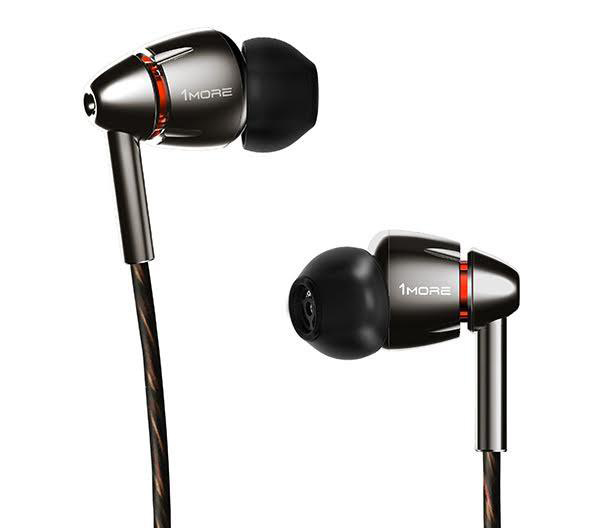 The aluminum-bodied 1More Quad Driver In-Ear Headphones offer epic noise-isolating surround sound, thanks to the design work of famed sonic engineer Luca Bignardi. usa.1more.com $199