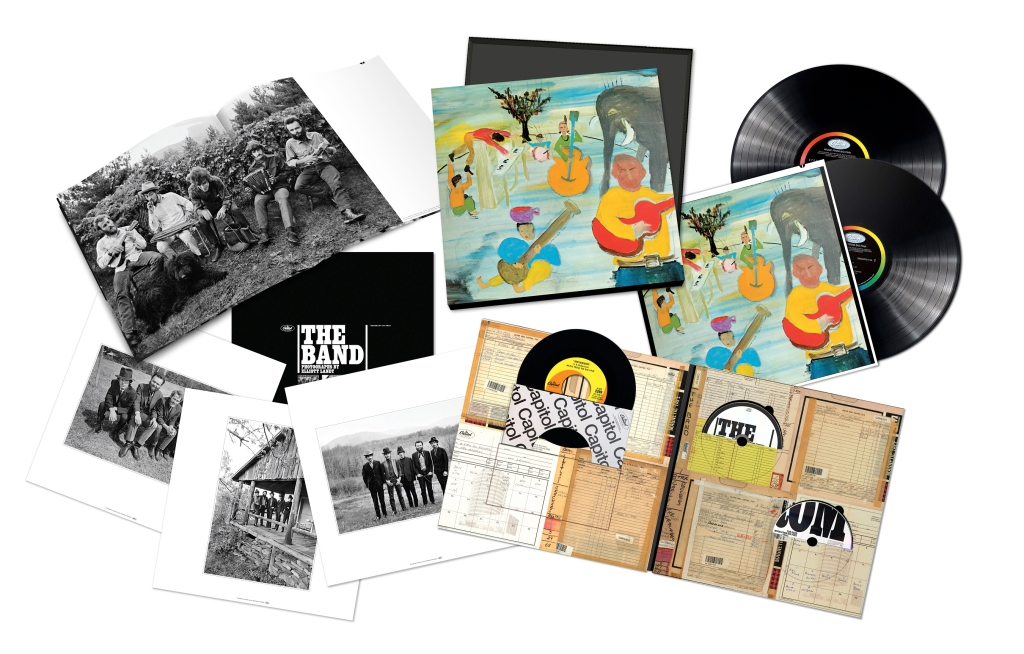 "A 50th-anniversary edition of the Band's back-to-the-land classic, with a bright new mix and extra goodies like an a cappella edit of ""I Shall Be Released."" www.officialtheband.com $150"