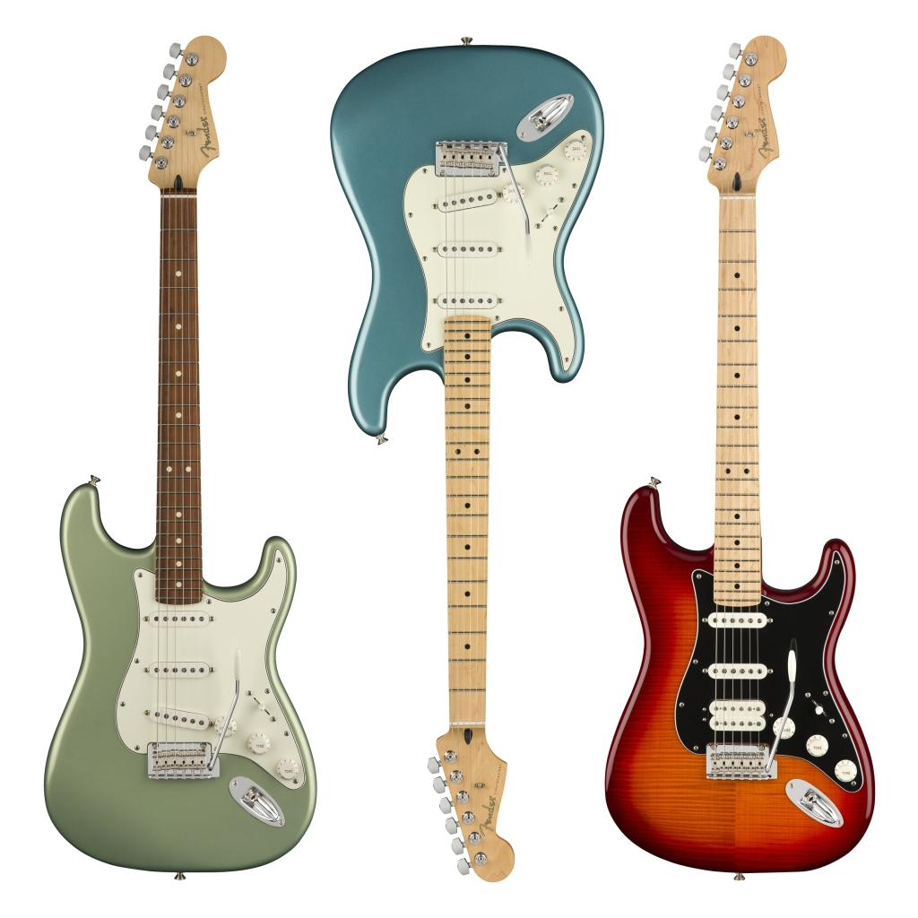 The new Fender Player Series -Stratocaster hews closely to the mid-Sixties models, but subtle tweaks make for a more modern guitar. fender.com $650