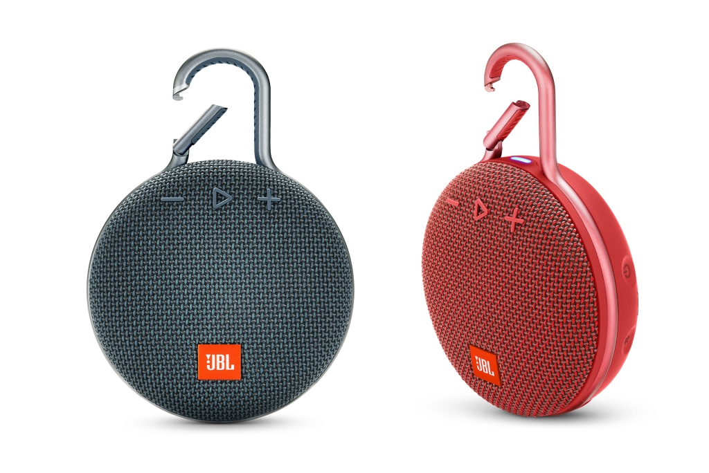 The JBL Clip 3 -Bluetooth Speaker -occupies a tiny amount of space in a bag — zero, if attached to a strap via the carabiner–like clip — so your giftee can always listen on the go. jbl.com $60