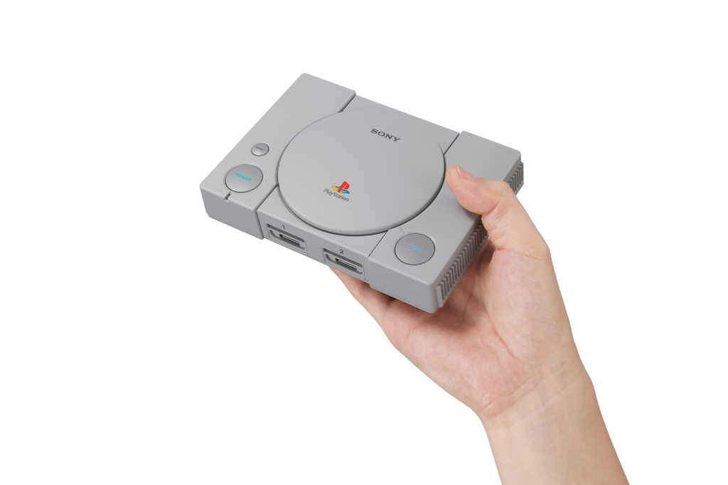 Pre-loaded with classic games including Tekken 3 and Final Fantasy VII, the miniaturized Sony PlayStation Classic jolts you back to the Nineties. playstation.com $100