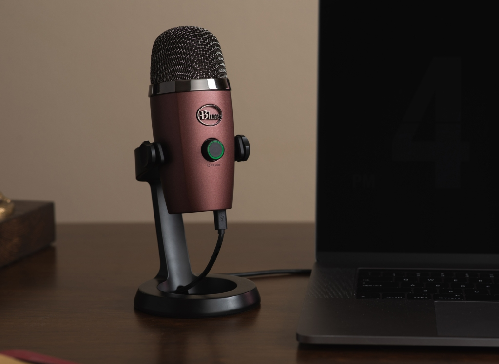 The easy-to-use Blue Yeti Nano Microphone, produces broadcast-quality audio with plug-and-play operation for instant streaming to a Mac or PC. bluedesigns.com $100