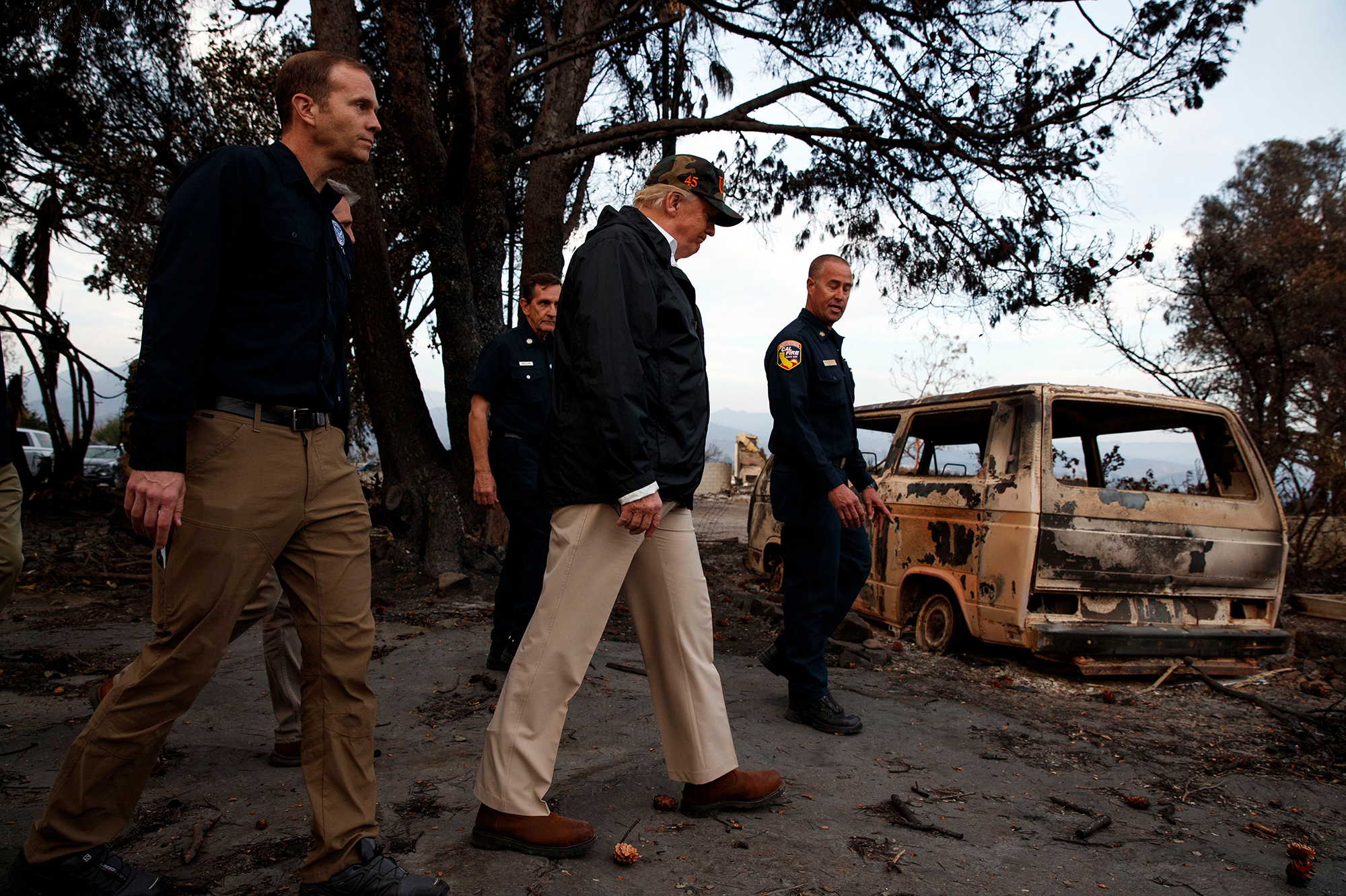 Wildfire Evacuees Not Impressed With Trump's Rake Remarks During California Visit