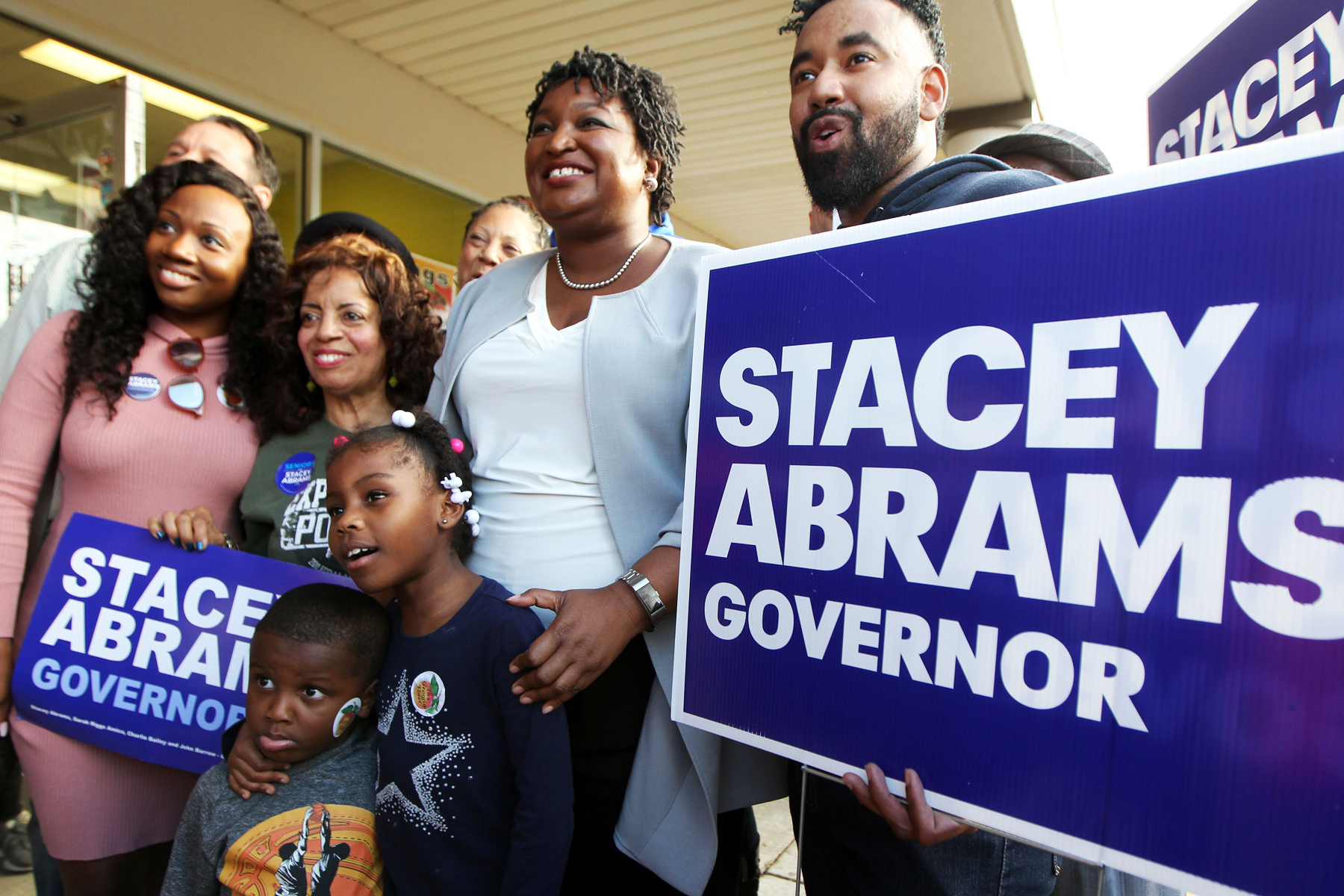Democratic Gubernatorial candidate Stacey Abrams makes her final campaign stop in Atlanta, Georgia USA, 06 November 2018. Abrams is facing Republican candidate Brian Kemp in the 06 November general election. Voters across the nation are selecting who will represent them on local, state and national levels.2018 Midterm election in Georgia, Atlanta, USA - 06 Nov 2018