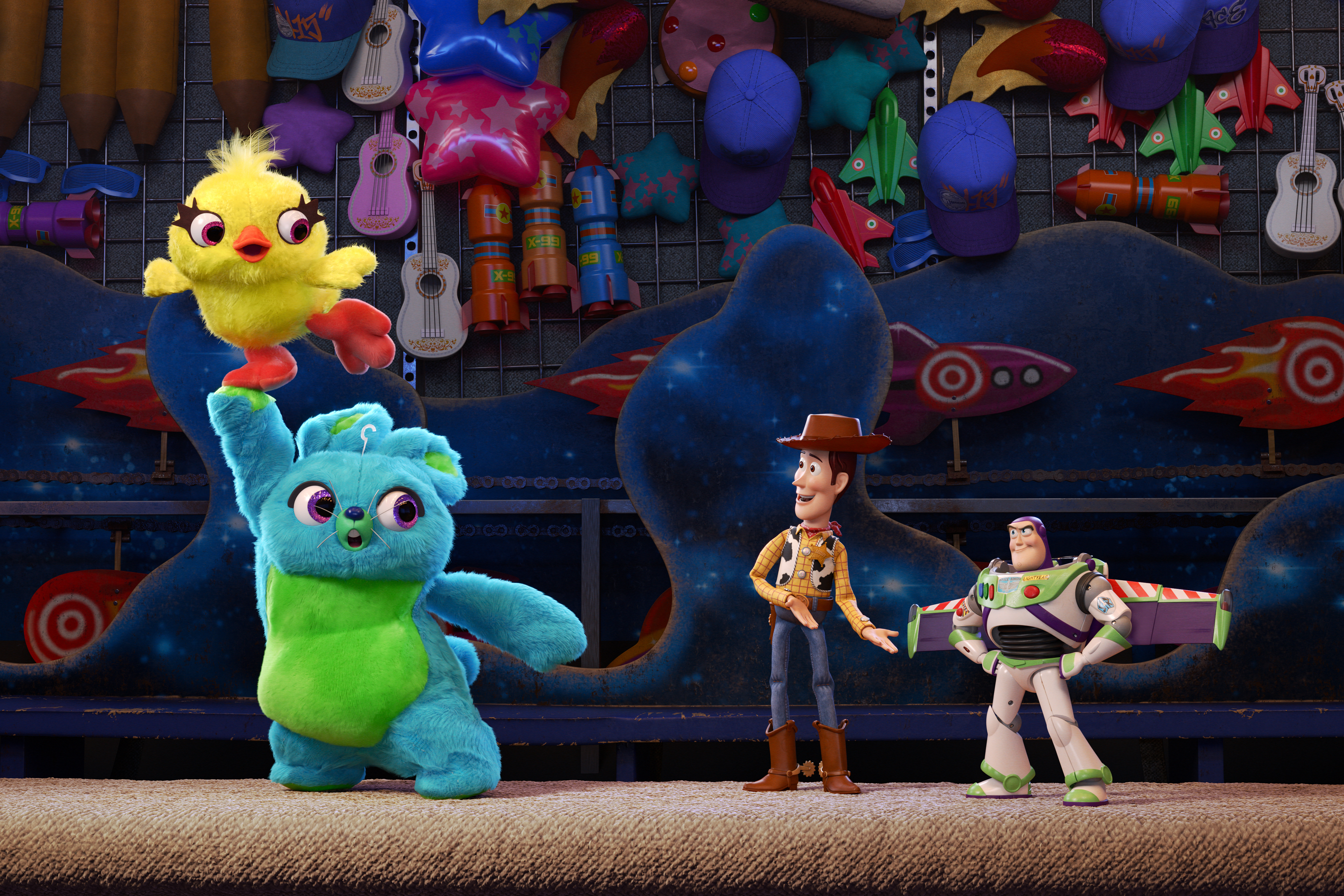 "PICK ME! -- Ducky and Bunny are carnival prizes who are eager to be won. But when their plans are rudely interrupted, they find themselves on an unexpected adventure with a group of toys who have no idea what it feels like to be tacked to a prize wall. Funny men Keegan-Michael Key and Jordan Peele provide the voices of Ducky and Bunny, respectively. Directed by Josh Cooley (""Riley's First Date?"") and produced by Jonas Rivera (""Inside Out,"" ""Up"") and Mark Nielsen (associate producer ""Inside Out""), ""Toy Story 4"" ventures to U.S. theaters on June 21, 2019. ©2018 Disney•Pixar. All Rights Reserved."