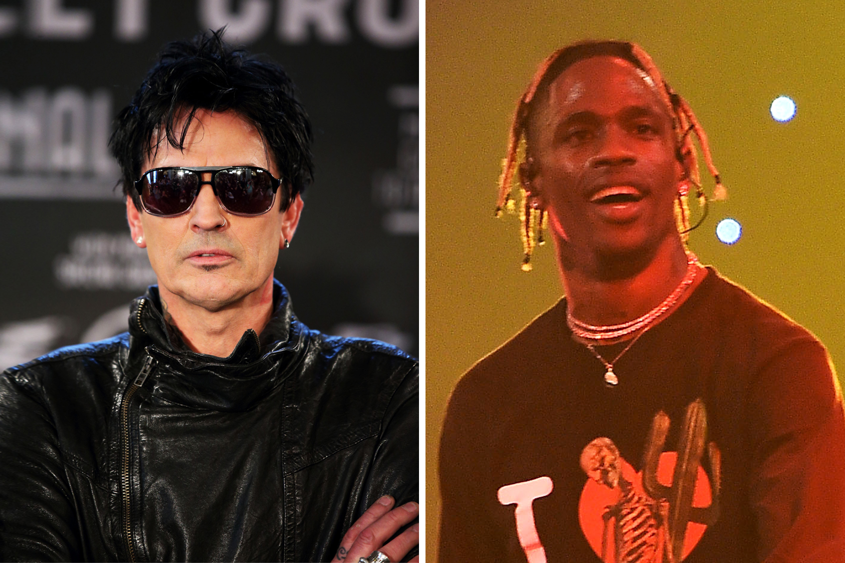 Tommy Lee Fires Insults at 'Idiot' Travis Scott Over Similar Stage Design