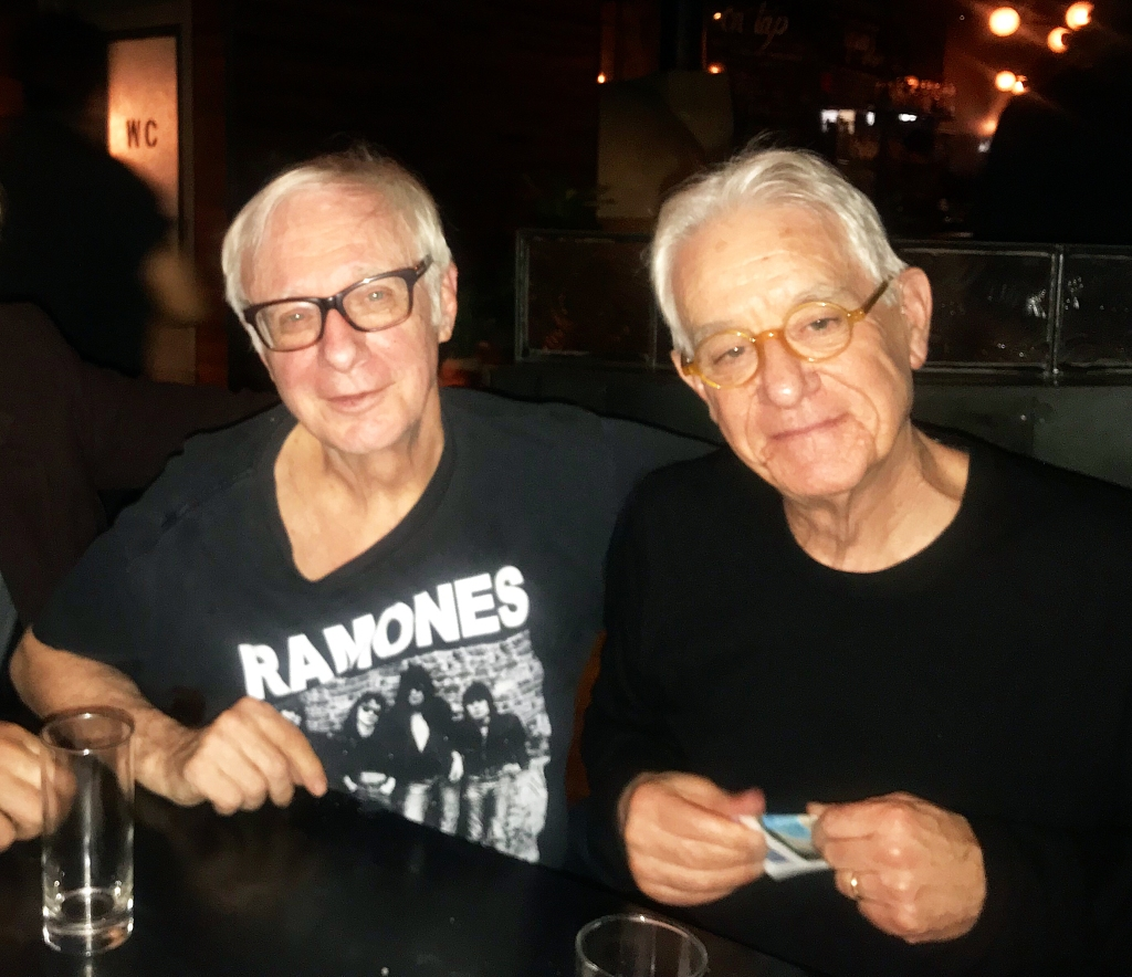 Robert Christgau and Greil Marcus. Photo credit: Linda Mevorach