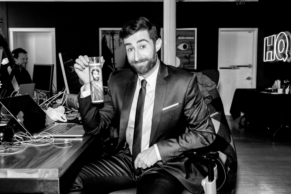 Scott Rogowsky before he goes live on HQ Trivia.