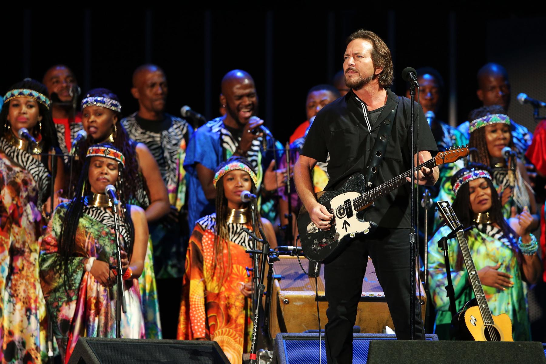 Watch Eddie Vedder Perform 'Better Man' With Soweto Gospel Choir