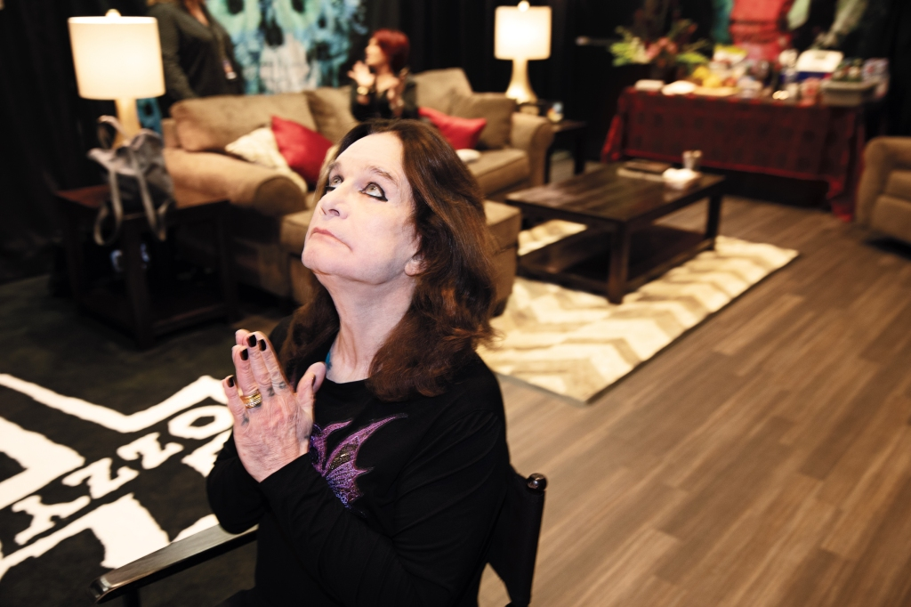 "Before he goes on, Ozzy warms up his voice using some exercises a vocal coach taught him, and prays. ""I say a few words to my higher power, which if you want to call him God, I don't care,"" he says. ""I have to hand it over to someone else, because it's too much a problem for me to walk around with. If something goes wrong, it was His decision, not mine. Otherwise, I'll take it to bed with me."""