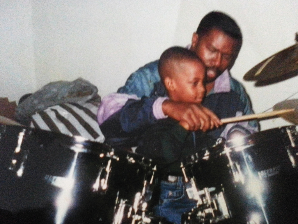 Scott and his dad, a drummer.