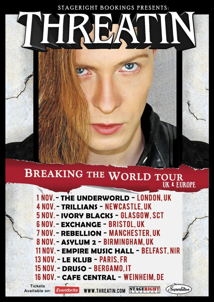 Threatin, Breaking the World Tour poster