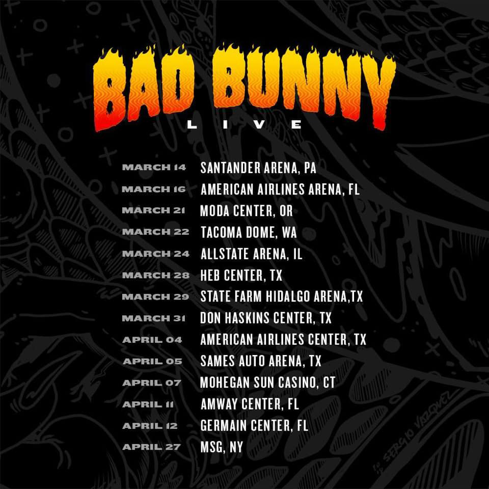 bad bunny tour dates