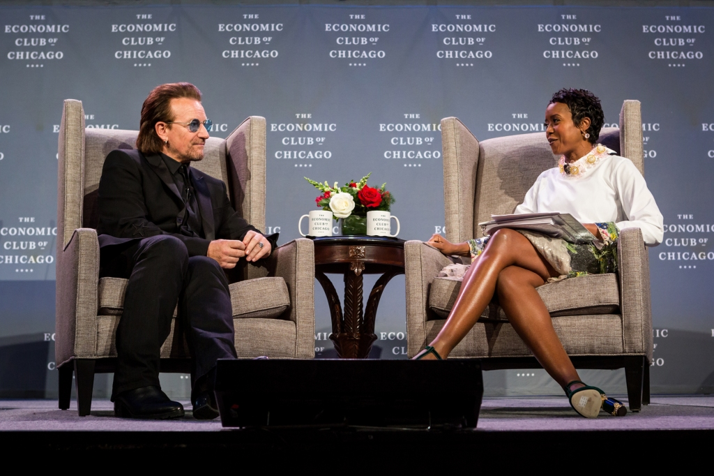 Bono on Dec. 6, 2018 at The Economic Club of Chicago.