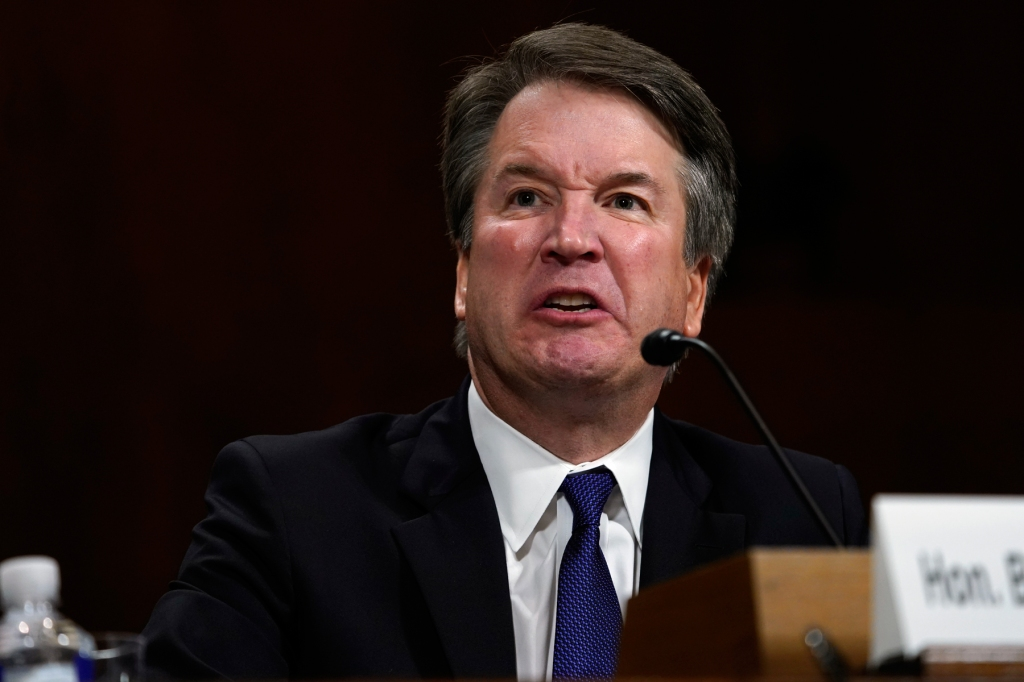 WASHINGTON, DC - SEPTEMBER 27: Supreme Court nominee Brett Kavanaugh testifies before the Senate Judiciary Committee on Capitol Hill on September 27, 2018 in Washington, DC. Kavanaugh was called back to testify about claims by Dr. Christine Blasey Ford, who has accused him of sexually assaulting her during a party in 1982 when they were high school students in suburban Maryland. (Photo by Andrew Harnik - Pool/Getty Images)