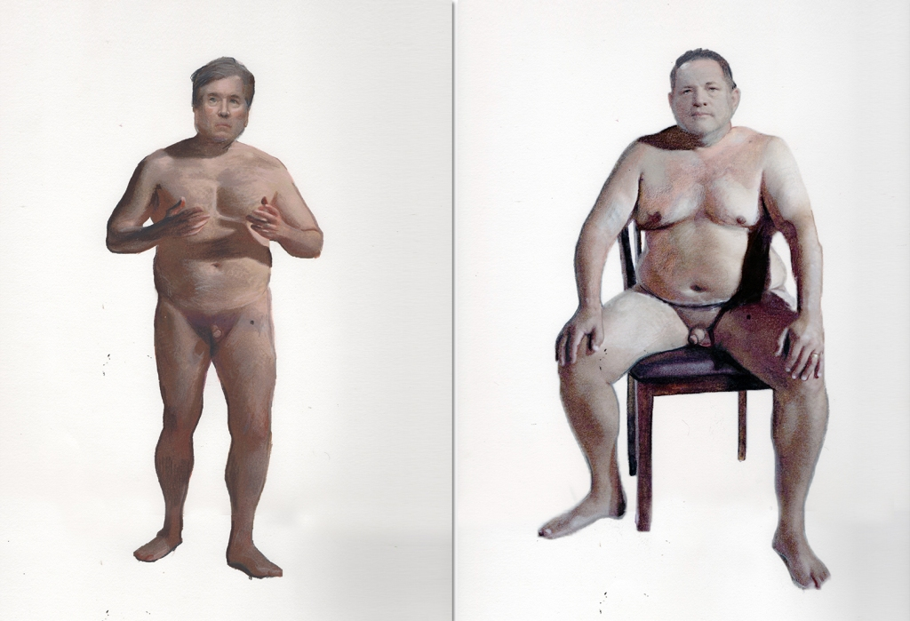 Brett Kavanaugh and Harvey Weinstein. Paintings by Ilma Gore
