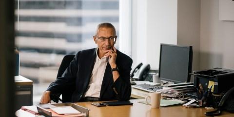 John Podesta at his office in Washington, DC on December 5th, 2018.