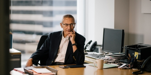 John Podesta at his office in Washington, DC on December 5th, 2018.