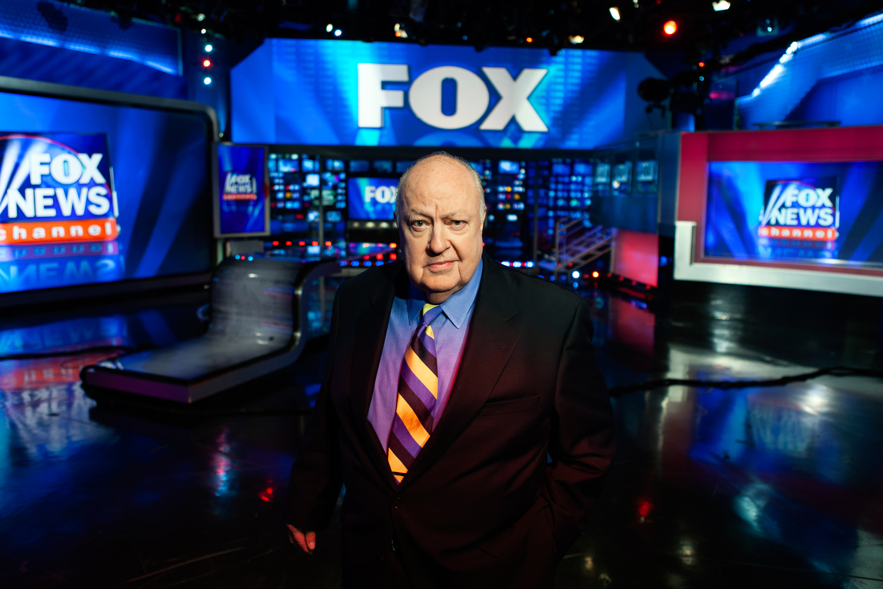 Roger Ailes in The Fox Studios, 2011.