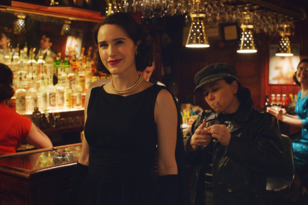 "Rachel Brosnahan in season two of Amazon's ""The Marvelous Mrs. Maisel"""
