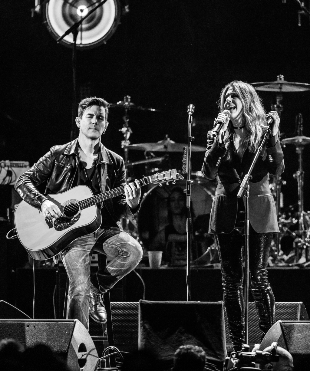 "Rita Wilson performs during the ""I am the Highway: A Tribute to Chris Cornell"" tribute concert at the Forum in Los Angeles on January 16th, 2019."